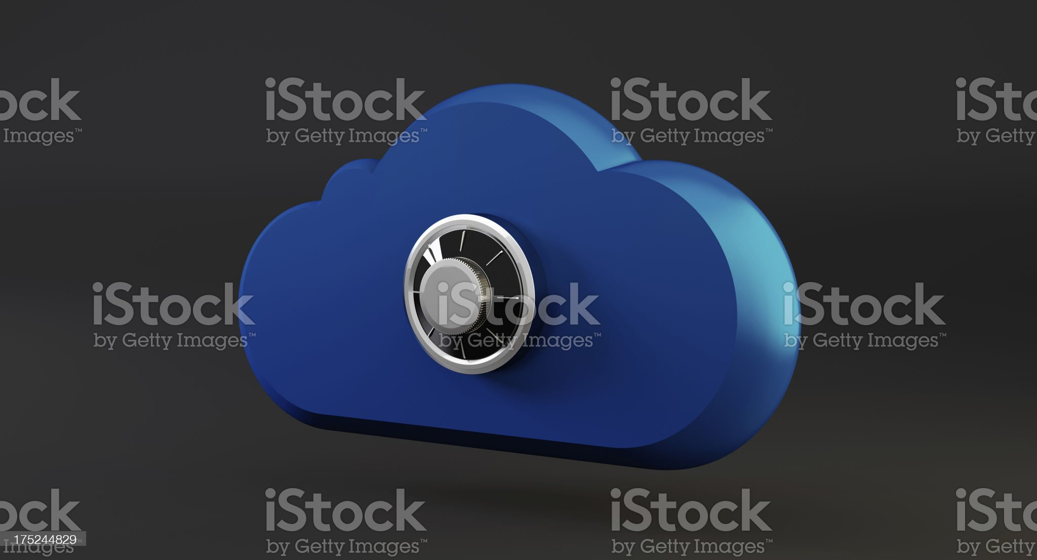 Combination Lock and Cloud royalty-free stock photo