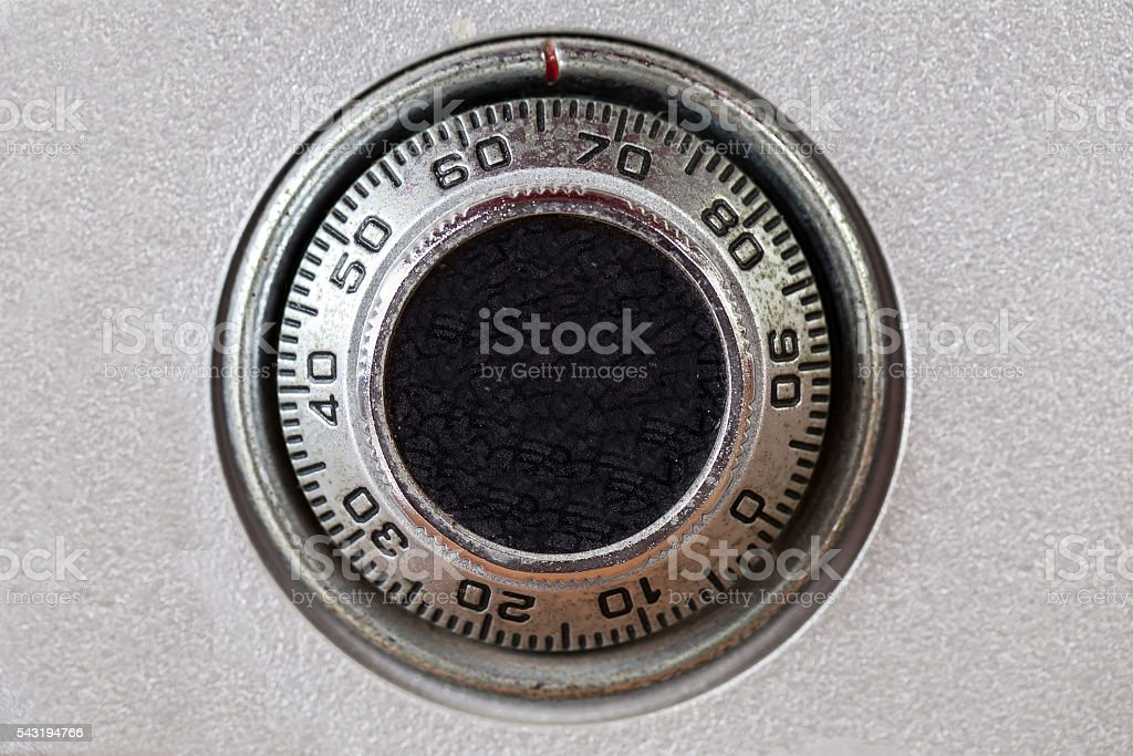 combination lock on the safe stock photo
