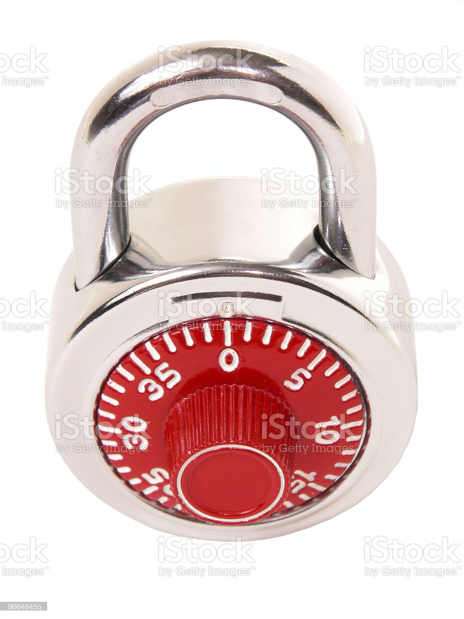 Combination Lock on White royalty-free stock photo