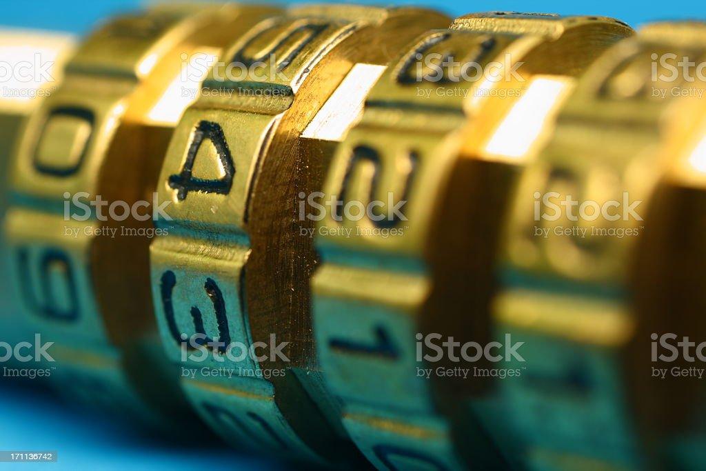Combination lock royalty-free stock photo
