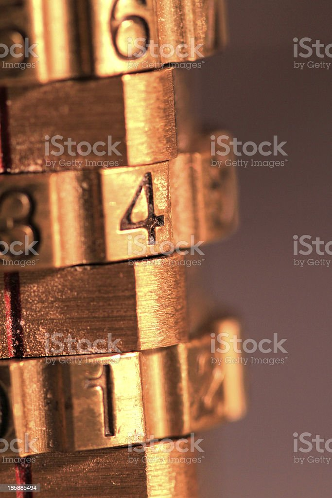 Combination Lock royalty-free stock photo