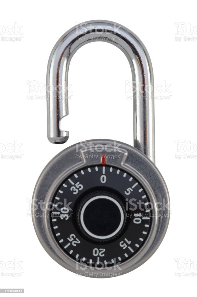 Combination Lock with Path stock photo