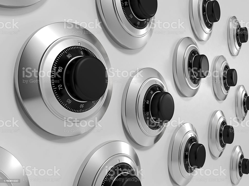 Combination Locks royalty-free stock photo