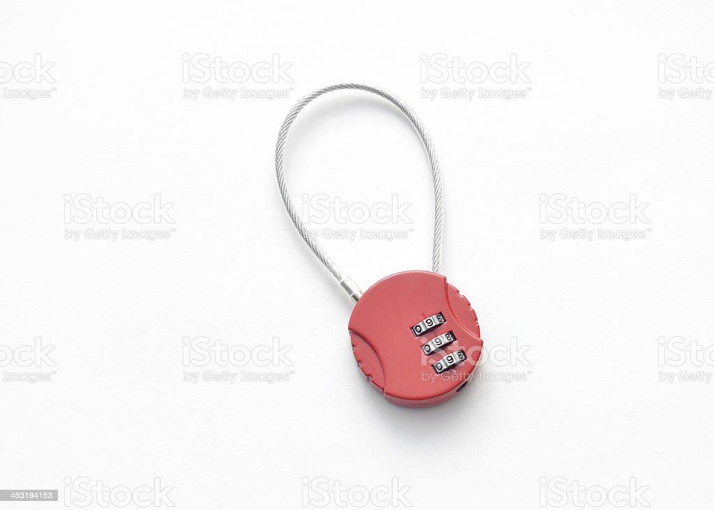 Combination Luggage Lock royalty-free stock photo