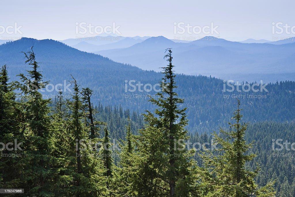 Hazy View of the Mountains royalty-free stock photo