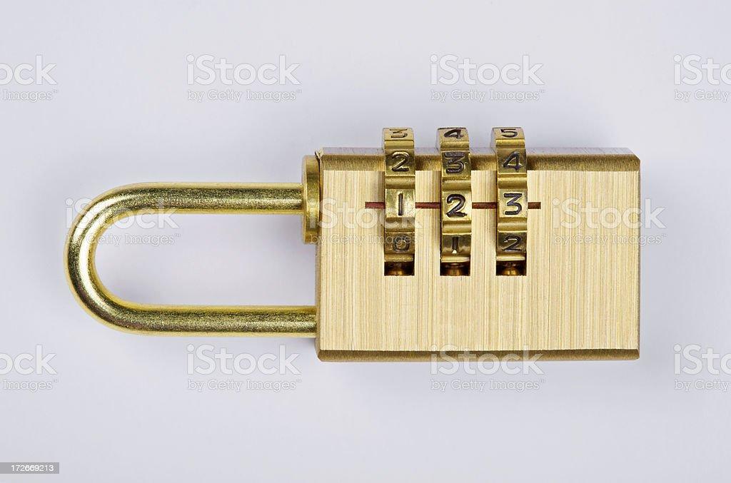 Combination Padlock royalty-free stock photo