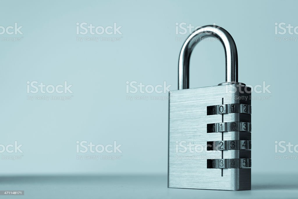 Combination Padlock royalty-free stock photo