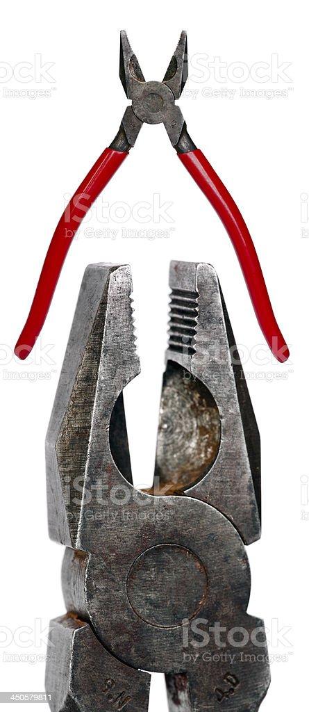 Combination pliers stock photo