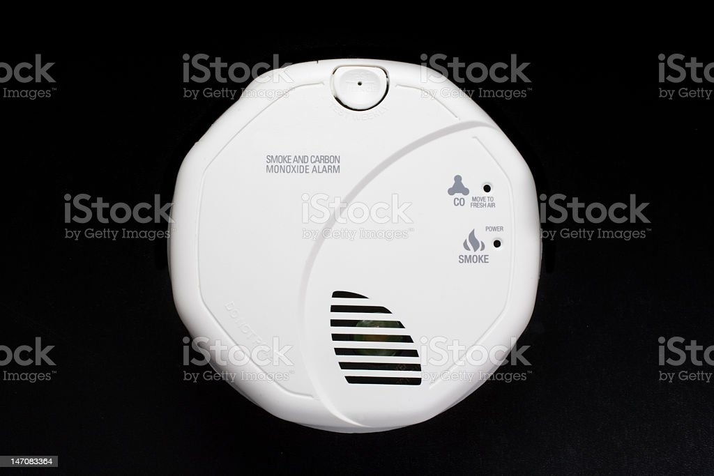 Combination Smoke and CO Alarm stock photo