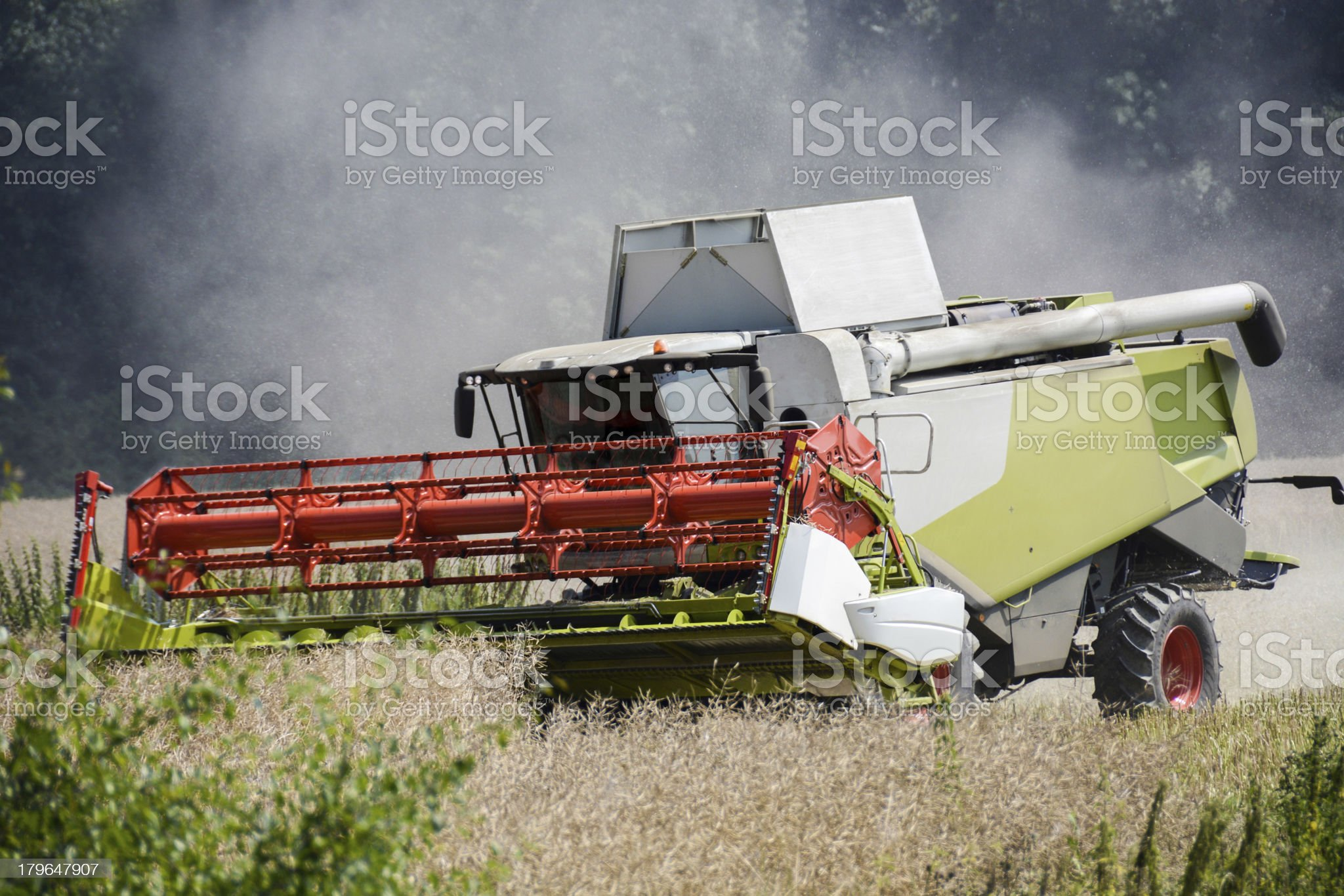 combine harvester royalty-free stock photo