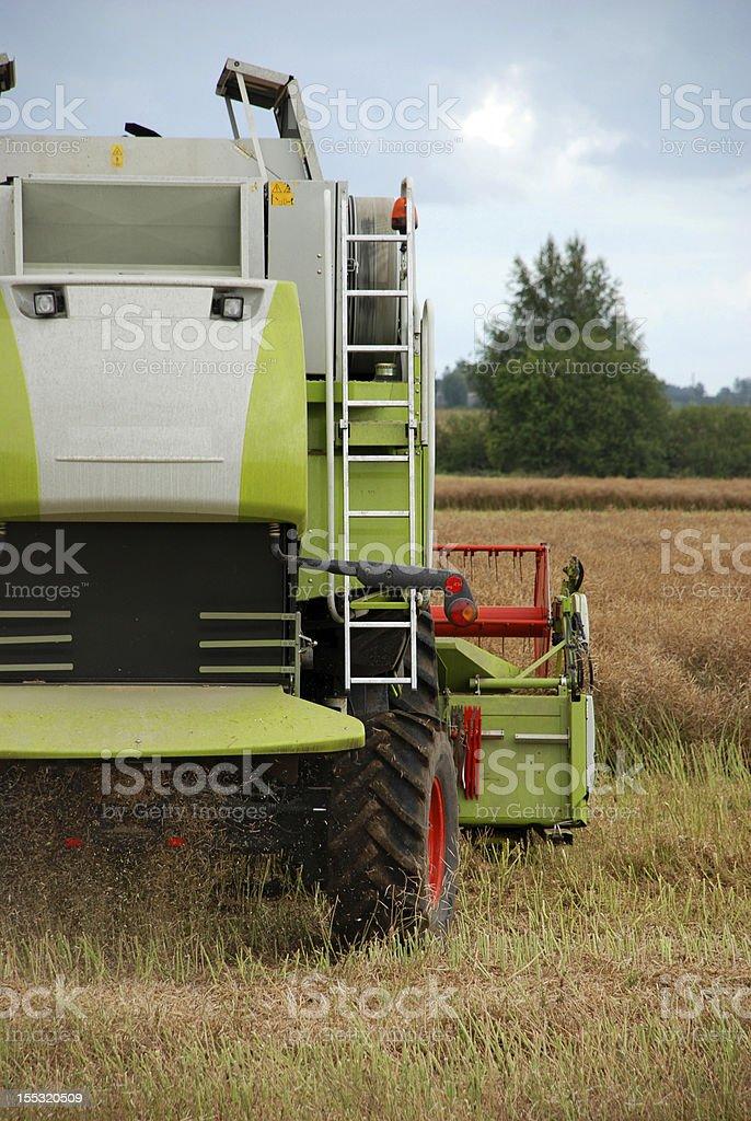 Combine harvesting royalty-free stock photo