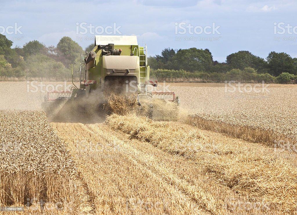 combine harvestor working in field royalty-free stock photo