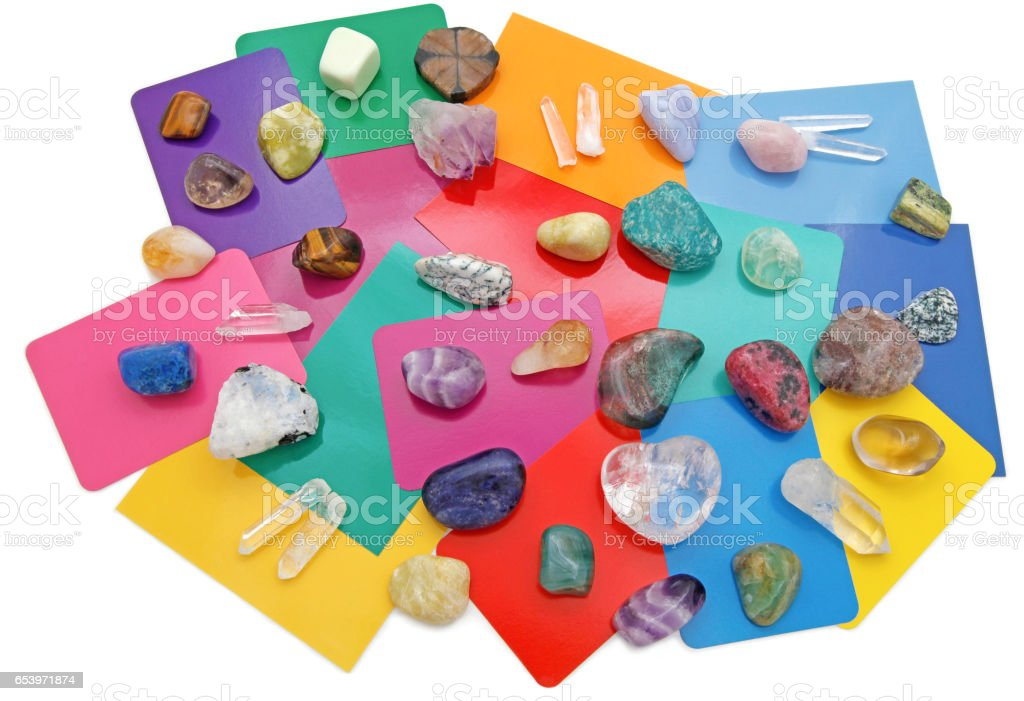 Combined Color Crystal Reading stock photo