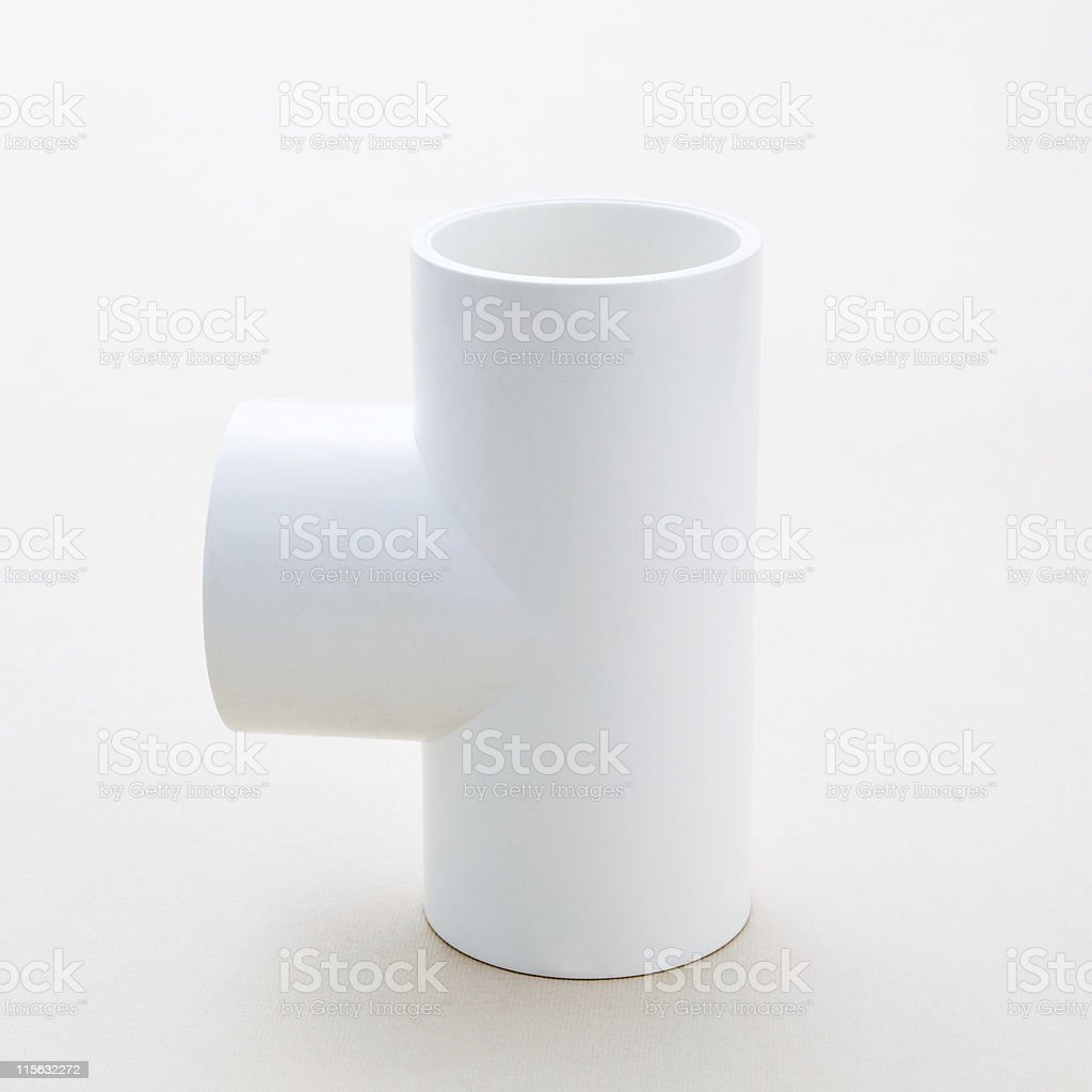 Combined fitting for PVC pipes royalty-free stock photo