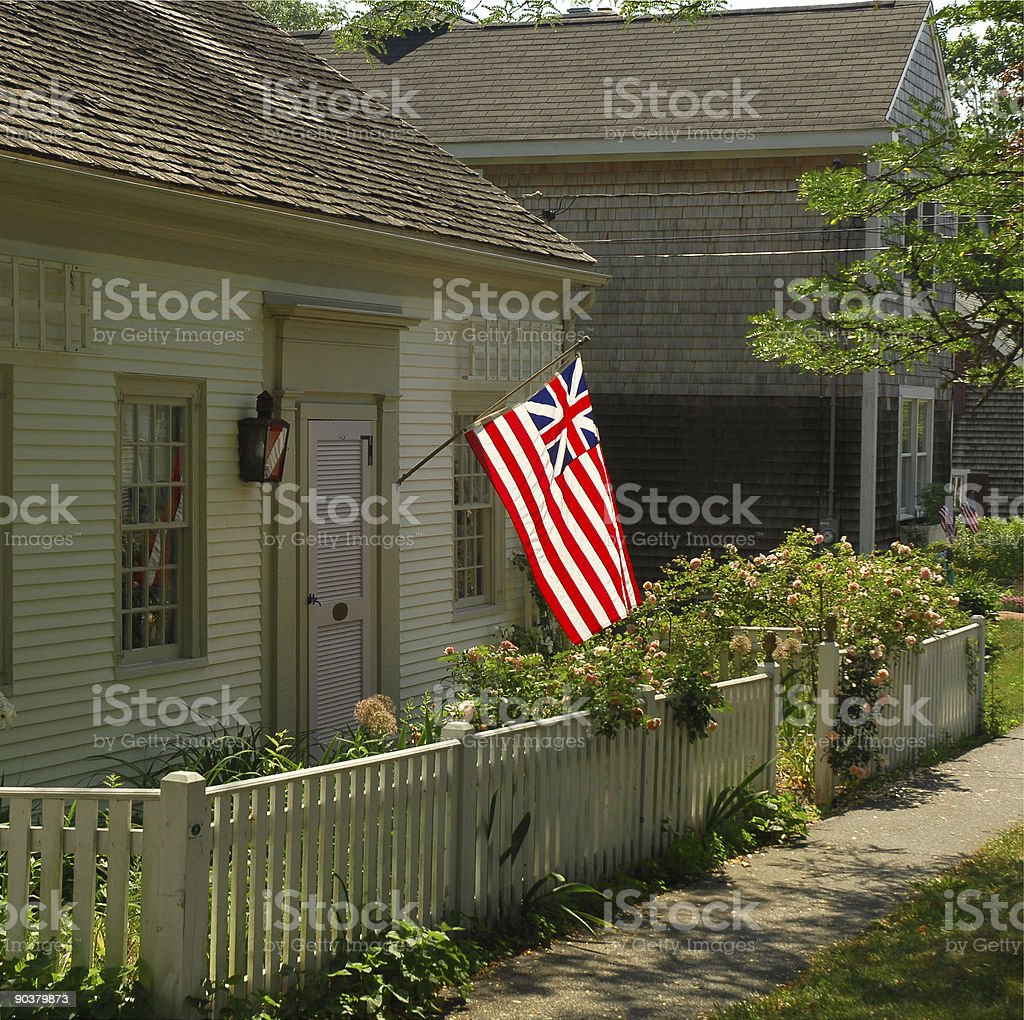 Combined US/UK Flag, New England royalty-free stock photo