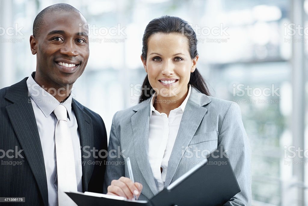 Combining all our corporate savvy royalty-free stock photo