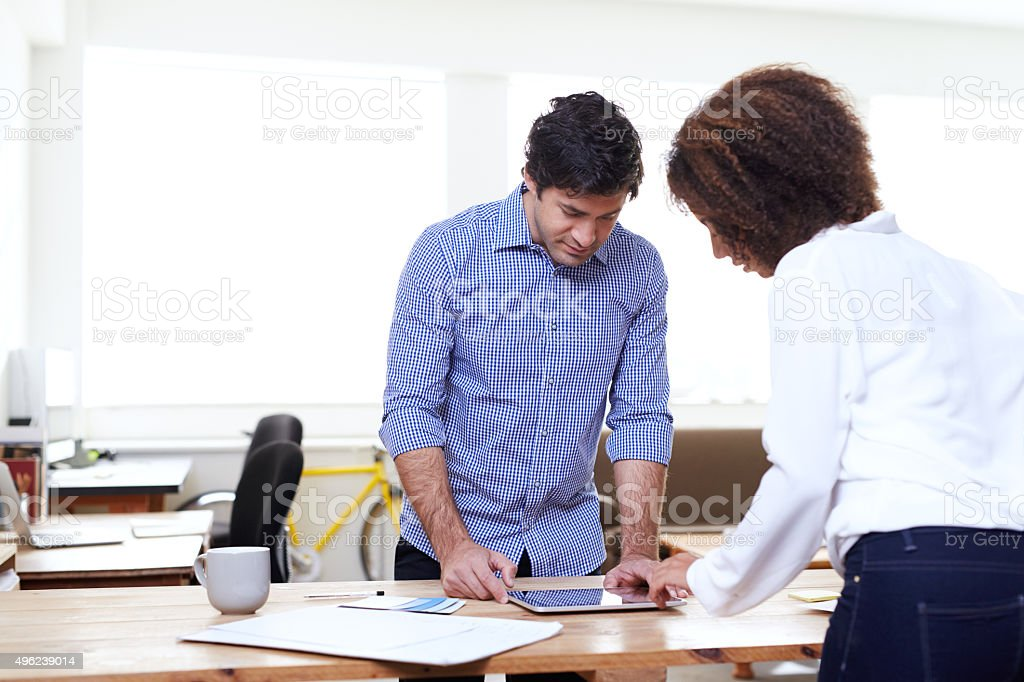 Combining their creative powers on this one stock photo