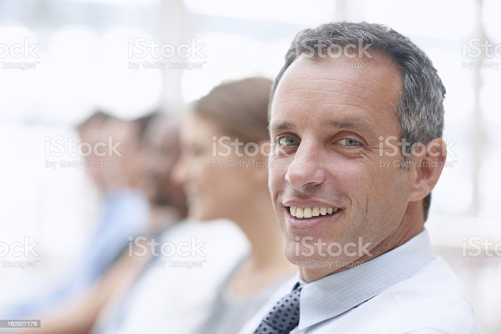 Come join in our meeting royalty-free stock photo