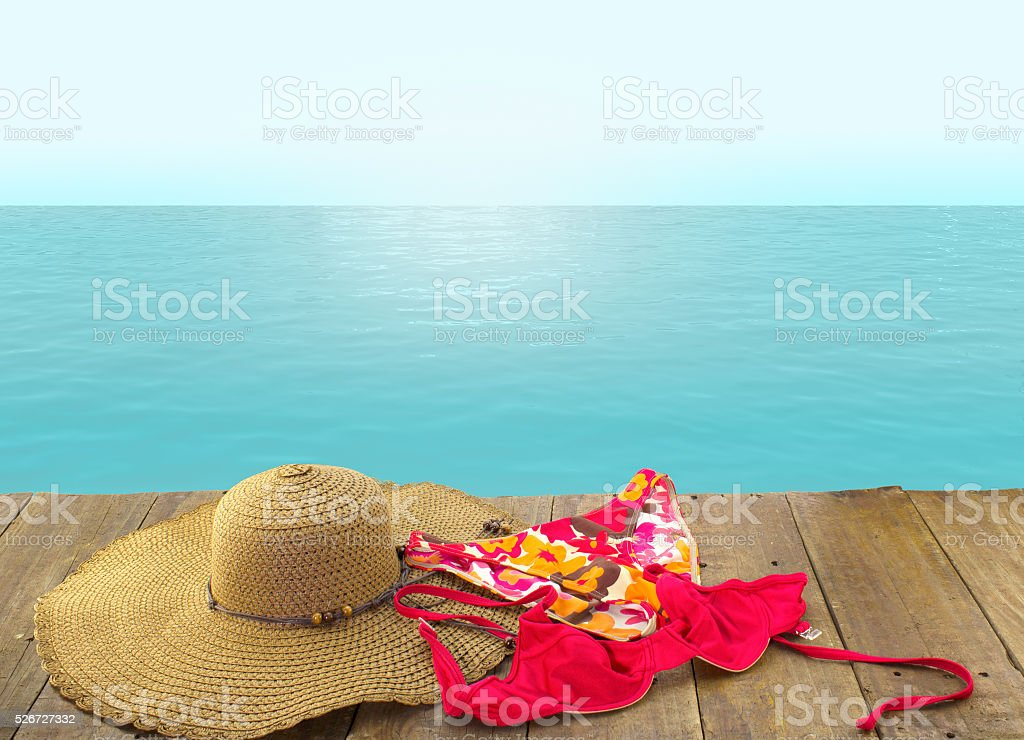 Come join me for a swim in the sea stock photo