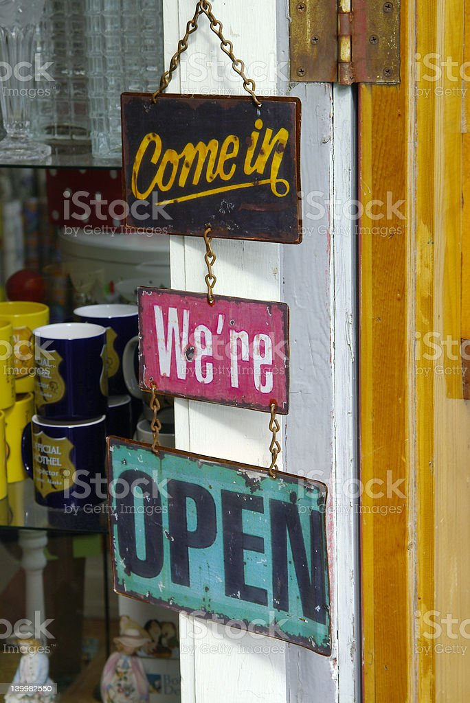 come on in royalty-free stock photo