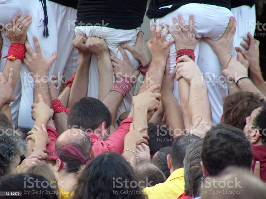 Come on. Raise up !!! stock photo