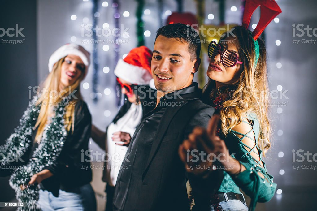 Come party with us! stock photo