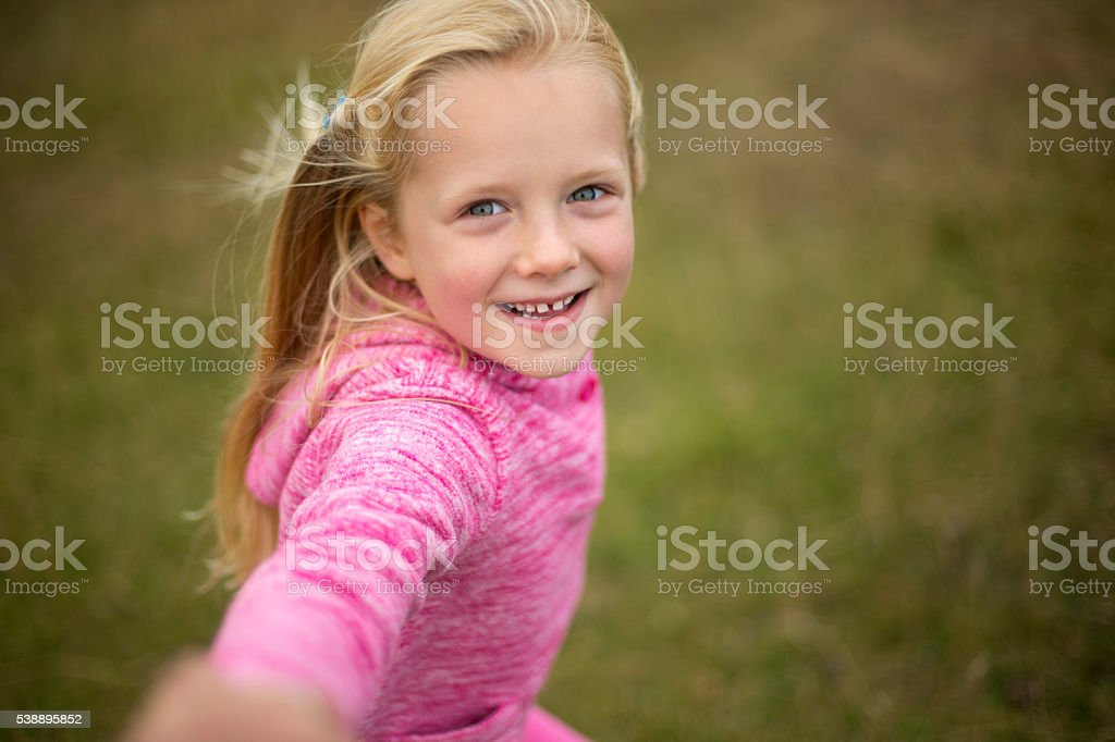 Come play with me! stock photo