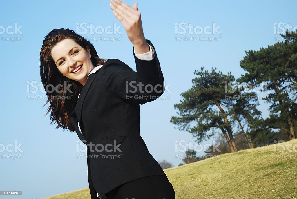 Come with me! stock photo