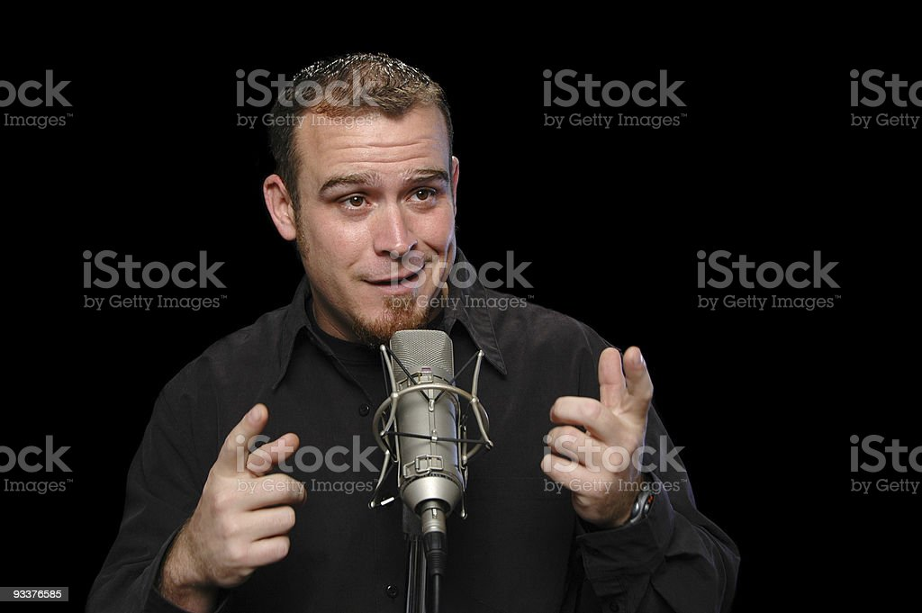 Comedian performing stock photo