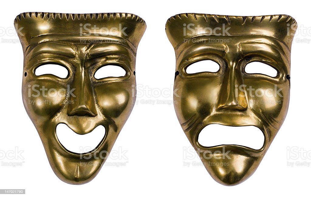 Comedy Tragedy Masks stock photo