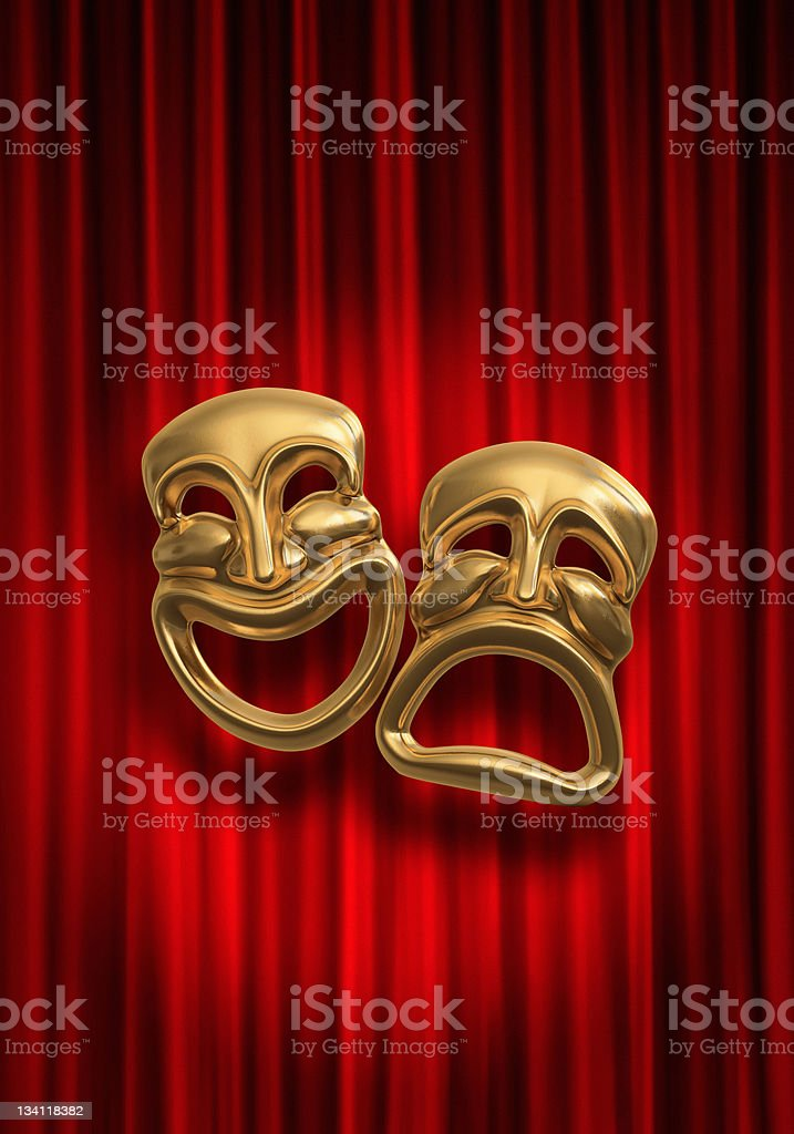 Comedy Tragedy stock photo