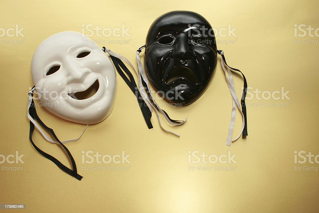 comedy tragedy royalty-free stock photo
