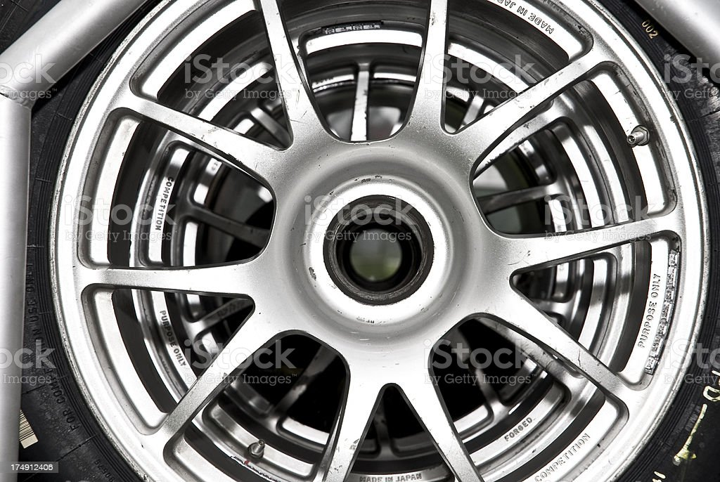 Comepetition wheel rims royalty-free stock photo
