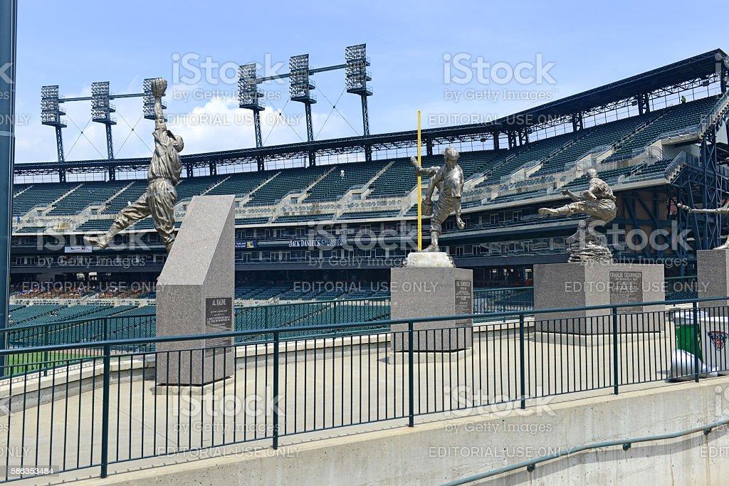 Comerica Park baseball park in Detroit Michigan stock photo