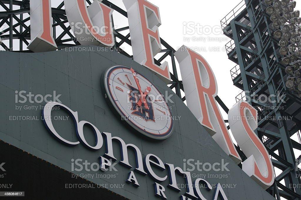 Comerica Park sign stock photo
