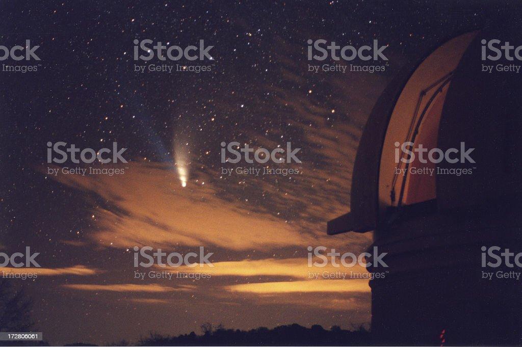 Comet Hale-Bopp from Palomar Mountain stock photo