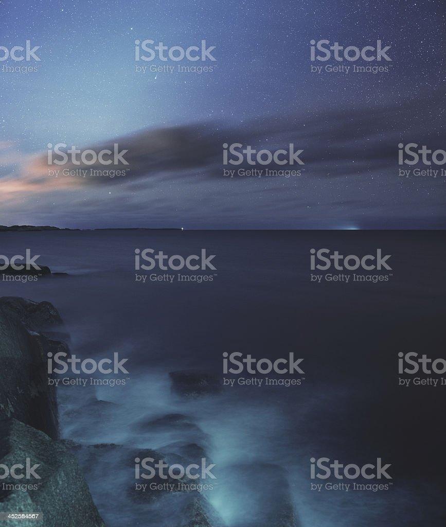 Comet Ison over the Atlantic stock photo
