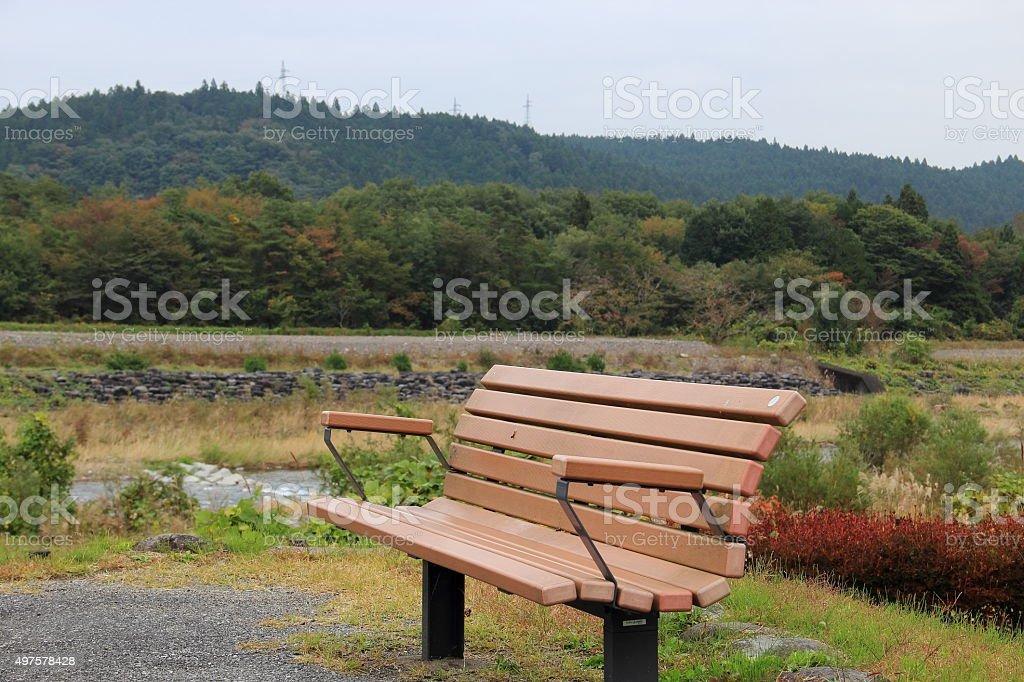 Comfort bench stock photo