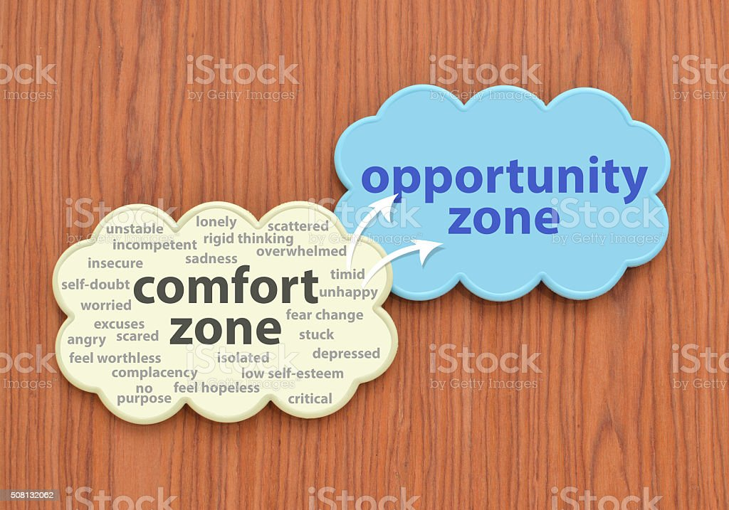 Comfort Zone Cloud stock photo