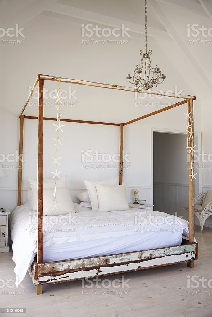 Comfortable bed royalty-free stock photo