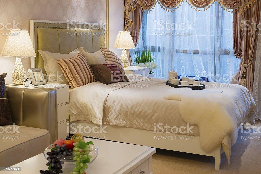 comfortable bedroom royalty-free stock photo