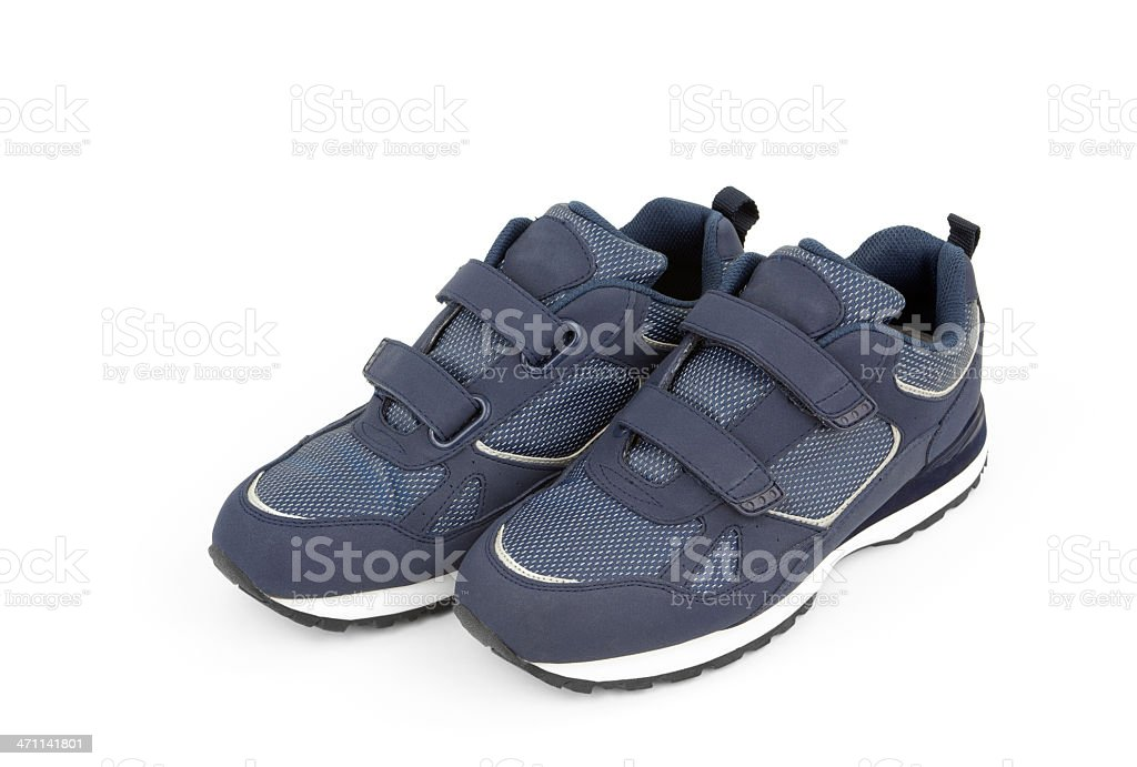 Comfortable Blue Shoes royalty-free stock photo