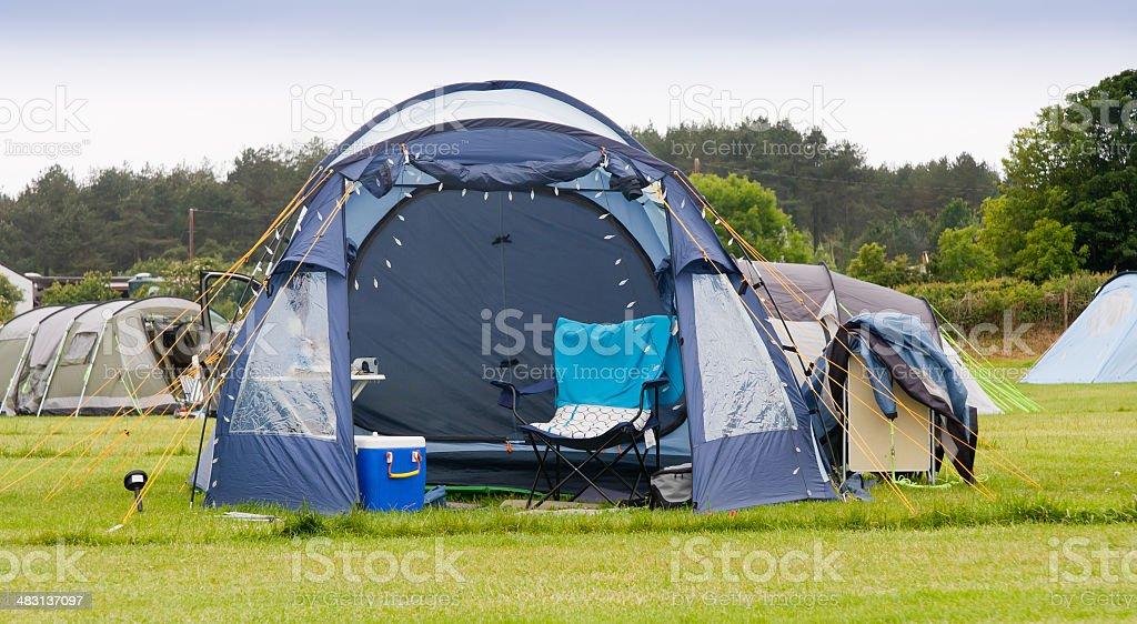 Comfortable camping stock photo