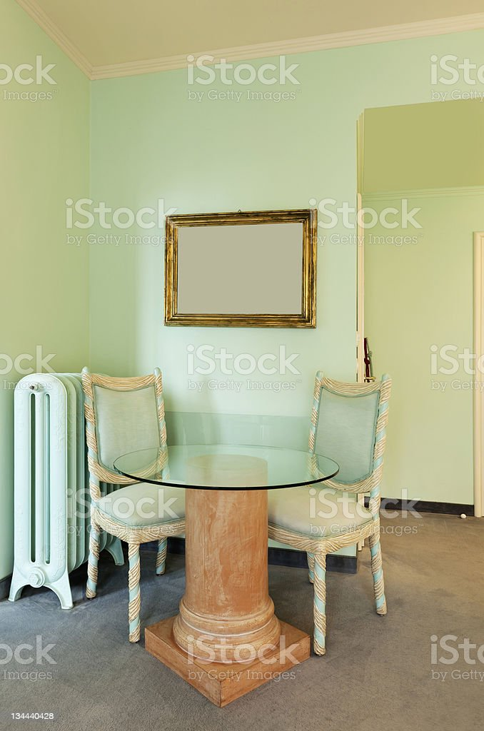 comfortable classic dining room royalty-free stock photo
