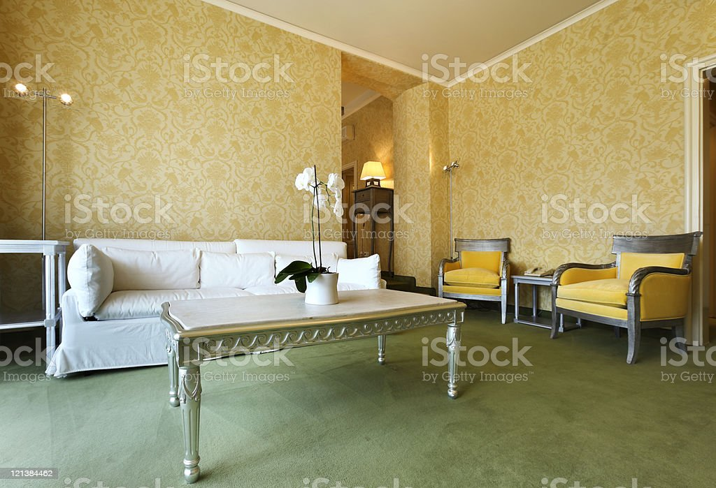 comfortable classic living room royalty-free stock photo