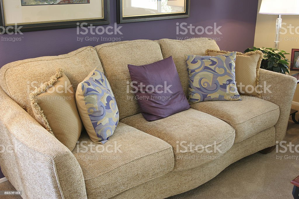 Comfortable couch royalty-free stock photo