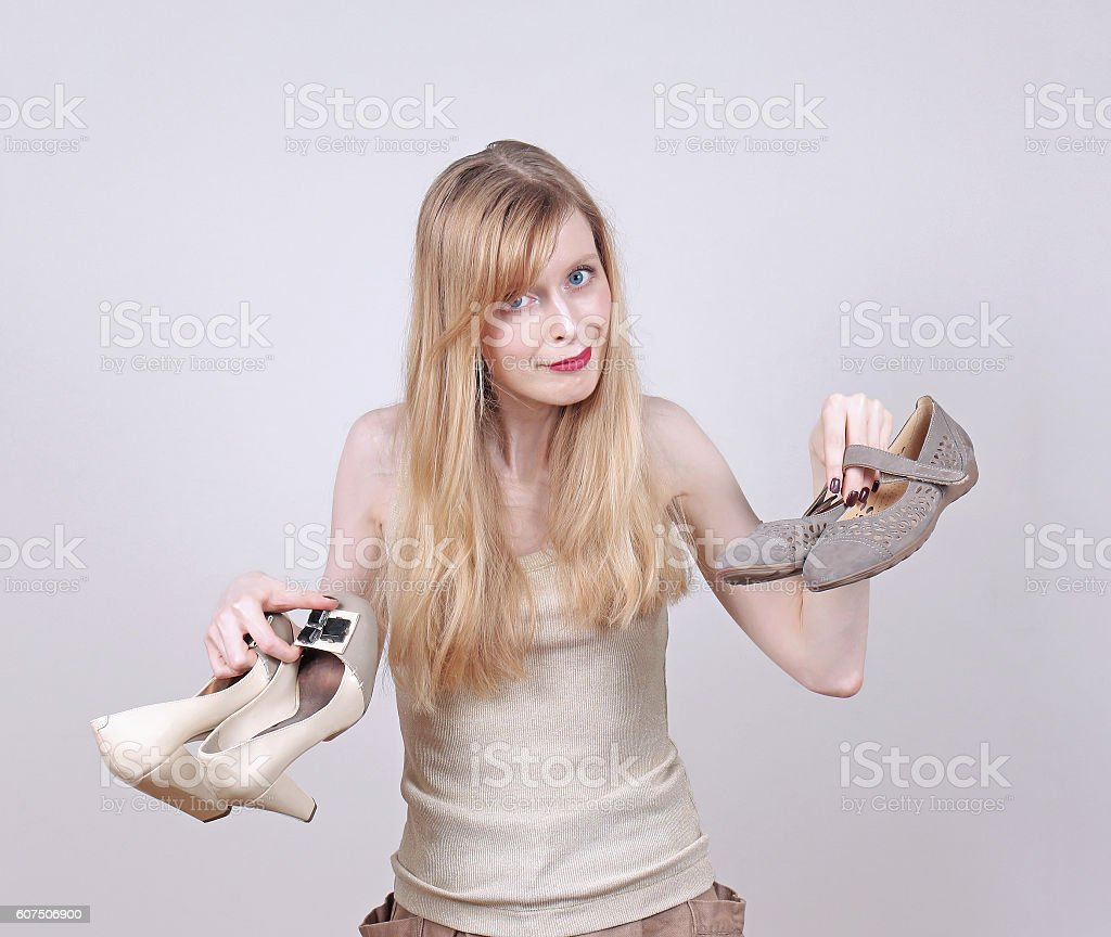 Comfortable flat shoes stock photo