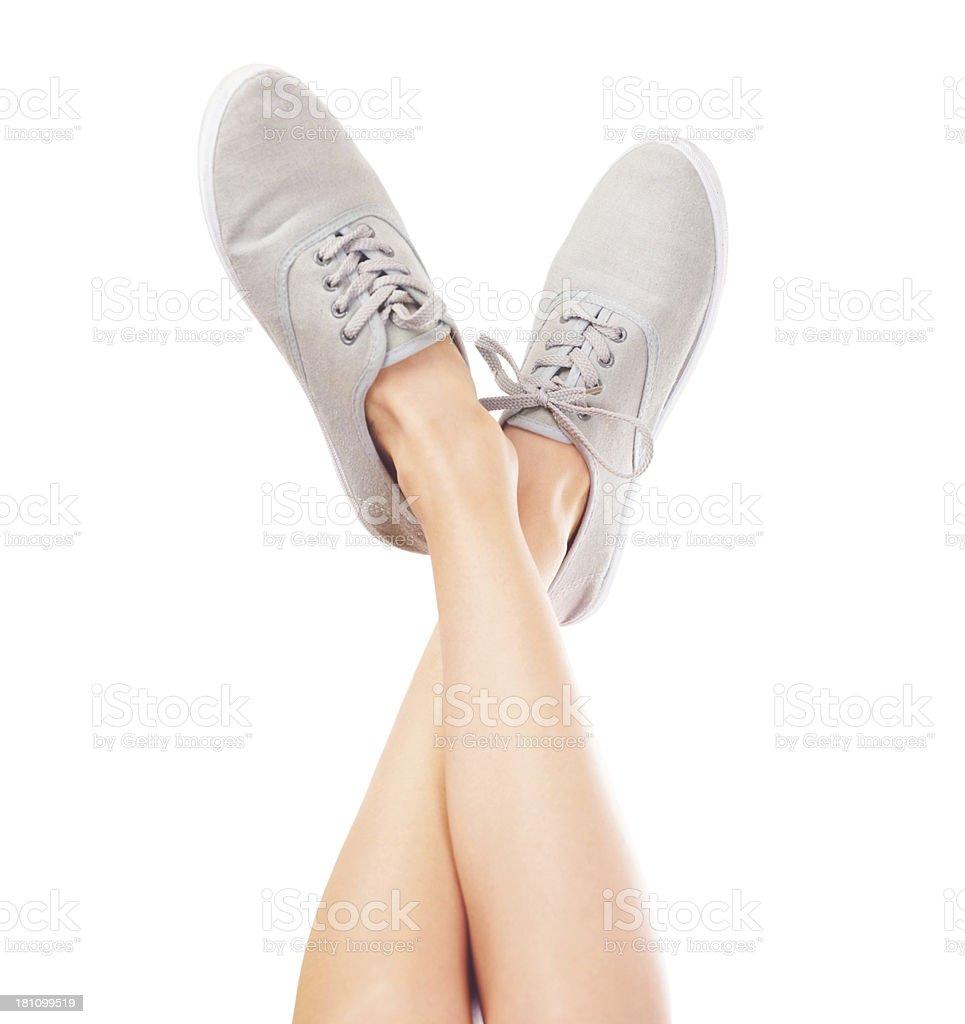 Comfortable footwear royalty-free stock photo