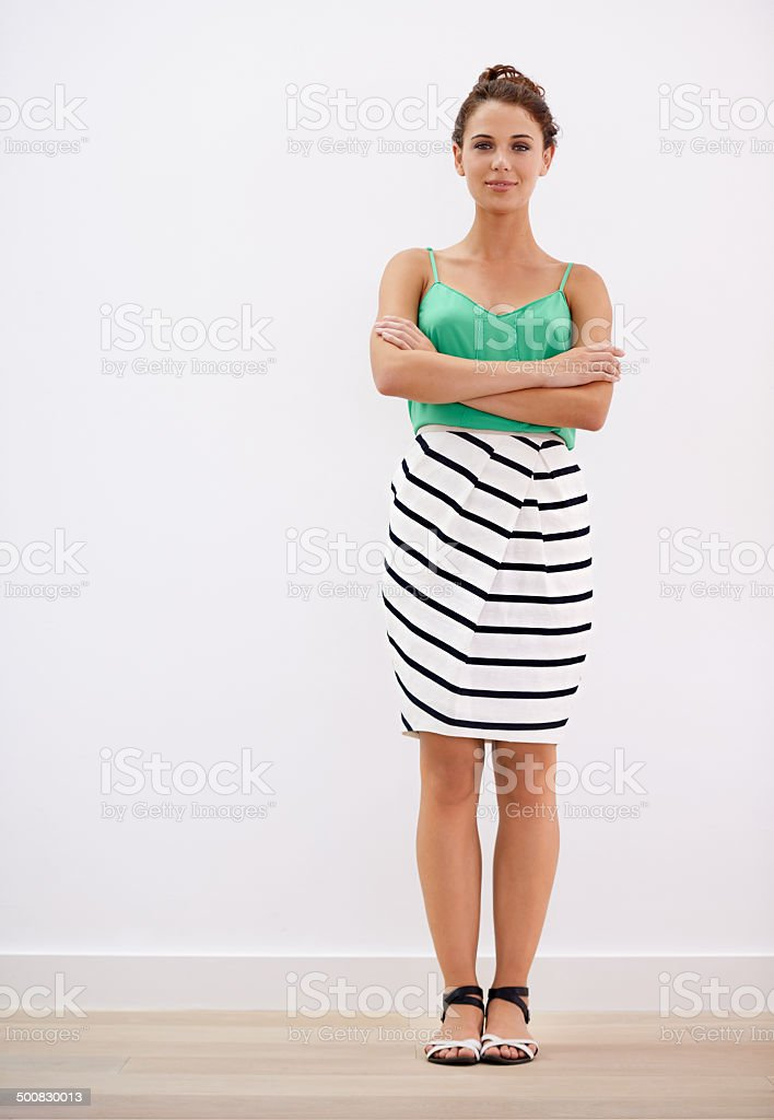 Comfortable in casuals stock photo