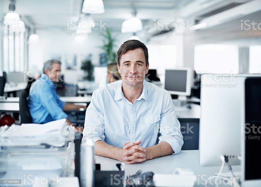 Comfortable in his work environment royalty-free stock photo